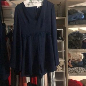 Blue romper from lulus